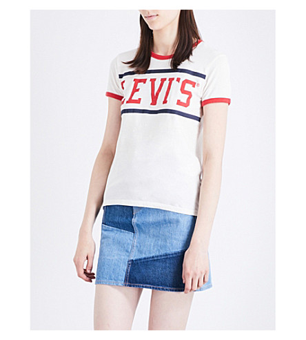 LEVI'S Perfect Ringer cotton-jersey T-shirt (Sport+marshmallow