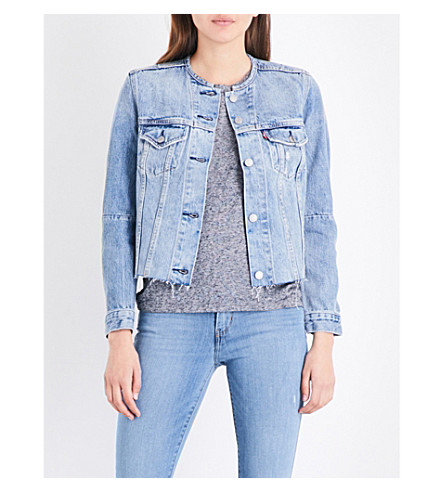 LEVI'S Altered Trucker cropped denim jacket (Better+together