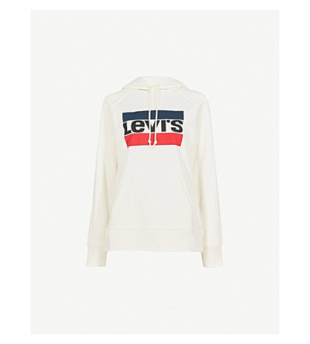 LEVI'S Graphic Sport cotton-jersey hoody (Marshmallow