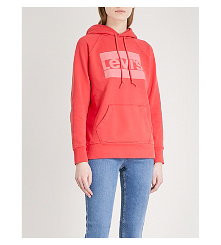 LEVI'S Graphic Sport cotton-jersey hoody (Poinsettia