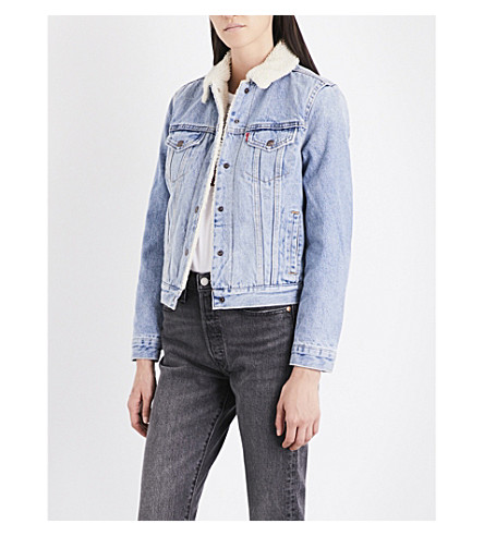 LEVI'S Sherpa collar denim trucker jacket (Strangeways