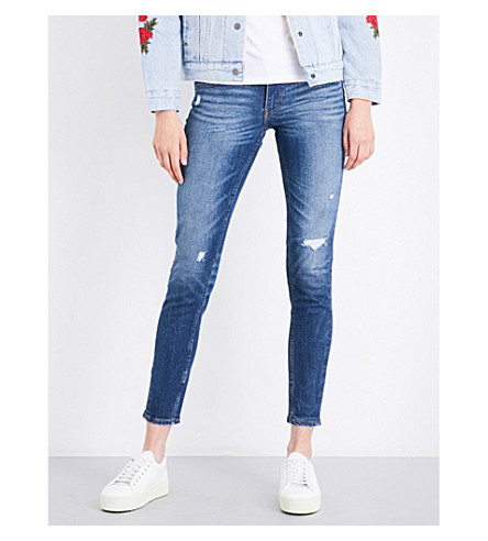 LEVI'S 711 Altered skinny mid-rise jeans (Mix+tape