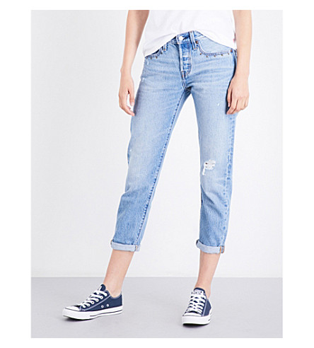 LEVI'S 501 Taper cropped high-rise jeans (Culture+shock