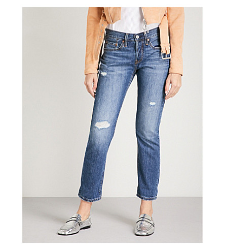 LEVI'S 501 original-fit tapered mid-rise jeans (Simple+life