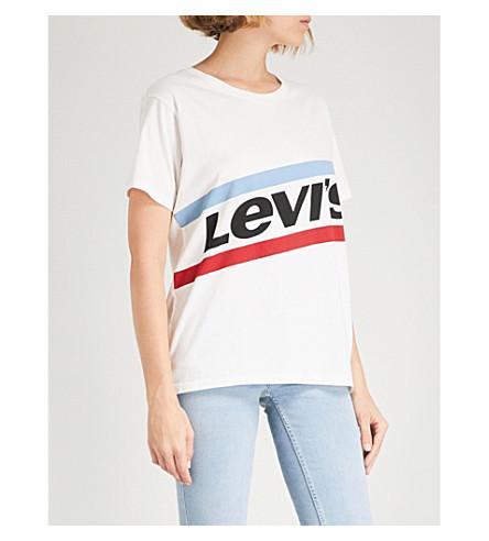 LEVI'S Graphic Boyfriend cotton-jersey T-shirt (Cloud+dancer