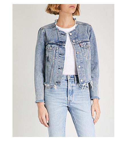 LEVI'S Altered Zip denim trucker jacket (Lucky+guess