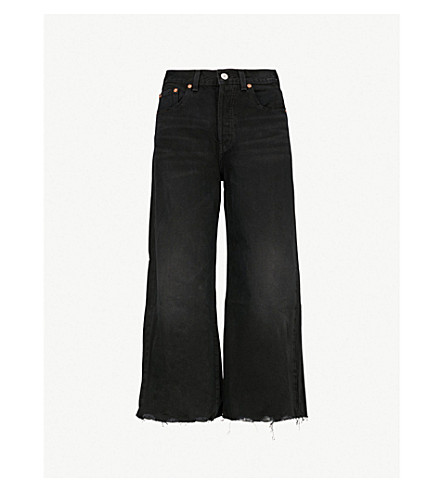 LEVI'S High Water high-rise cropped jeans (Damn+straight