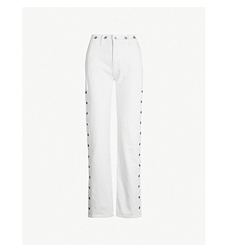 LEVIS MADE & CRAFTED Union studded high-rise straight-leg jeans (Foam