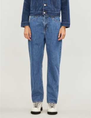 Dad straight high-rise jeans