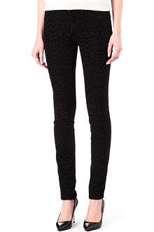 TRIPP NYC High-waisted Leopard flock jeans