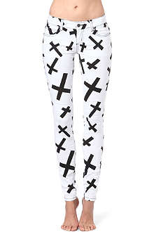 TRIPP NYC Anarchy Cross skinny mid-rise jeans