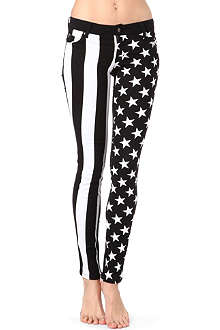TRIPP NYC Stars and Stripes-print skinny mid-rise jeans
