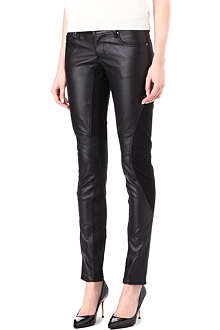 TRIPP NYC Faux-leather motocross trousers