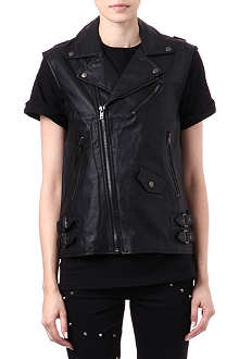 TRIPP NYC Faux-leather vest