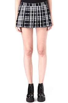 TRIPP NYC Tartan pleated mini skirt
