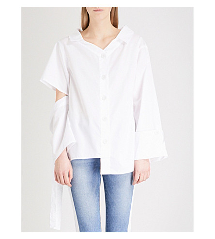 SJYP Cutting cotton shirt (White+01w