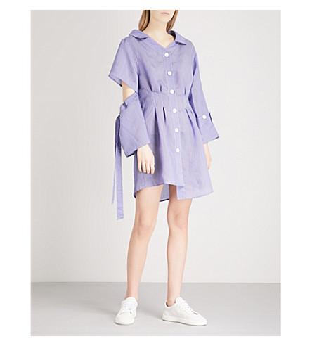 SJYP Asymmetric woven mini dress (Blue+0031