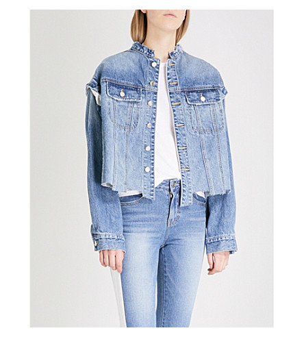 SJYP Asymmetric denim jacket (Denim+blue+0033