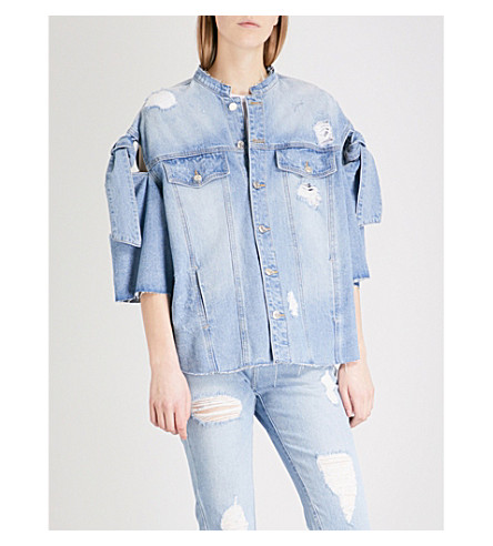 SJYP Ribbon denim jacket (Denim+blue+0033