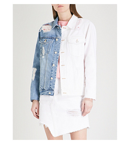 SJYP Half and Half denim jacket (Denim+blue