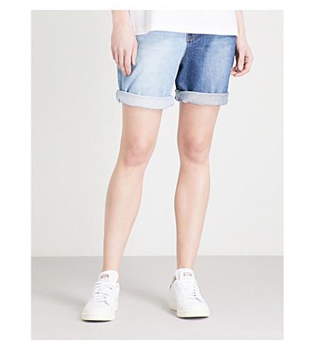 SJYP Two-Tone slim-fit denim shorts (Denim+blue