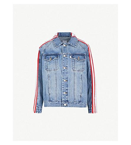 SJYP Striped denim jacket (Red