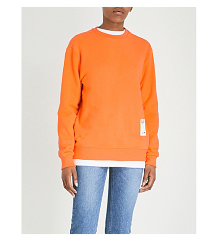 SJYP Like Me cotton-jersey sweatshirt (Orange
