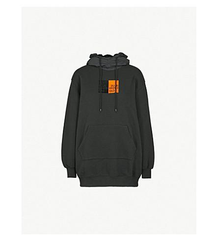 SJYP Training cotton-jersey hoody (Black