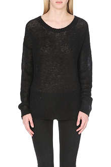 BLK DNM Scoop-neck knitted jumper