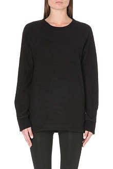 BLK DNM 14 zip-detail jersey sweatshirt