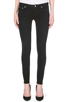 BLK DNM Snake-print skinny mid-rise jeans