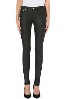 BLK DNM 22 skinny high-rise coated jeans
