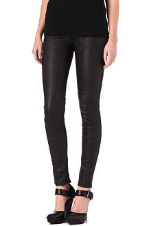 BLK DNM Skinny mid-rise leather trousers