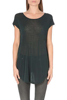 BLK DNM Semi-sheer jersey t-shirt