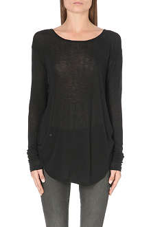 BLK DNM Scoop-neck jersey top