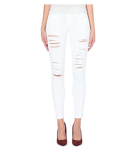 FRAME Le Skinny de Jeanne skinny mid-rise jeans (Blanc