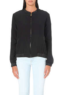 FRAME Le Jacket silk bomber jacket