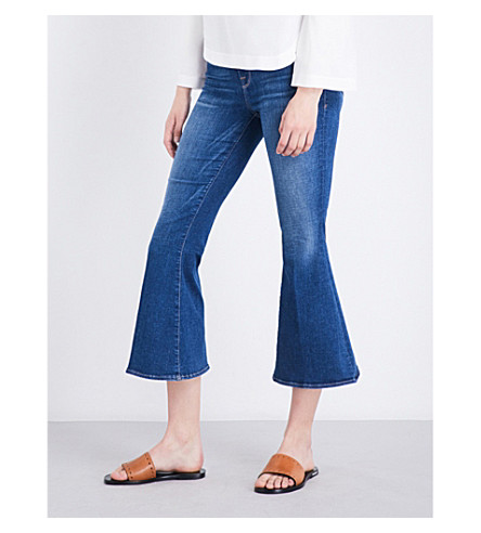 FRAME Le Crop bell flared high-rise jeans (Gail
