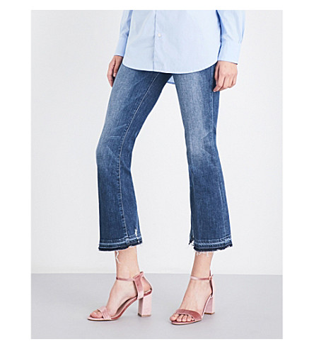FRAME Le crop mini flared high-rise jeans (Roberts