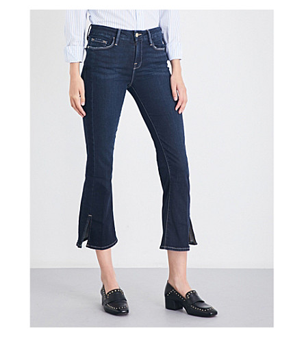 FRAME Le Crop Mini Boot kick-flare high-rise jeans (Johnson