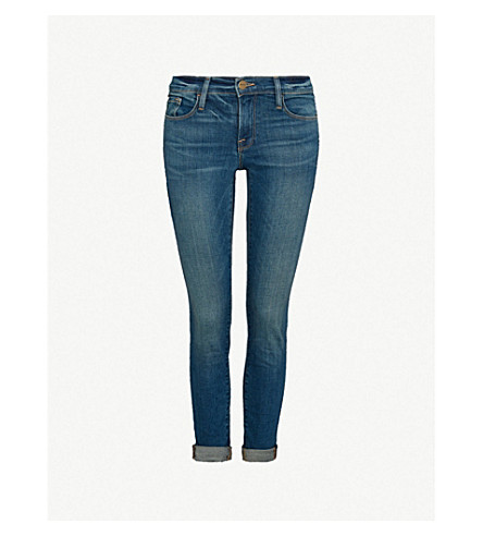 FRAME Le Garcon turn-up skinny mid-rise jeans (Berkley+square