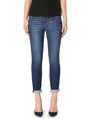 FRAME Le Garcon slim boyfriend mid-rise jeans