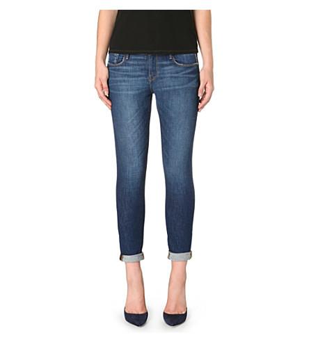 FRAME Le Garcon slim boyfriend mid-rise turn-up jeans (Belgrave