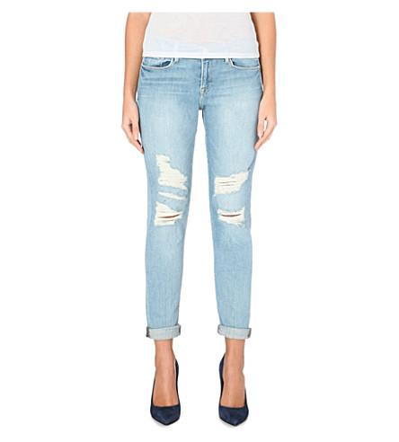 FRAME Le Garcon slim boyfriend high-rise jeans (Lucielle