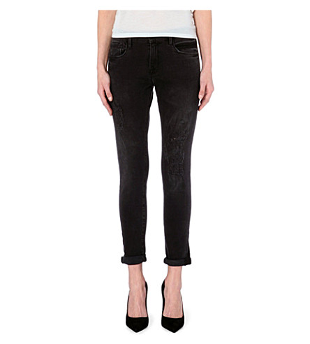 FRAME Le Garcon slim boyfriend mid-rise jeans (Caswell
