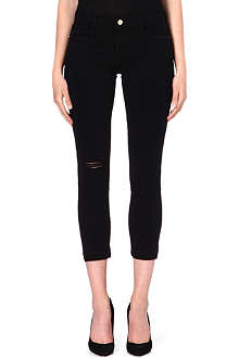 FRAME Le Garcon cropped skinny mid-rise jeans