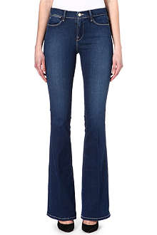 FRAME Flared mid-rise jeans