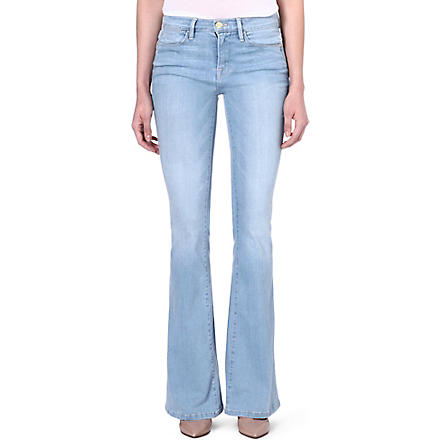 FRAME Flared mid-rise jeans (Surfview