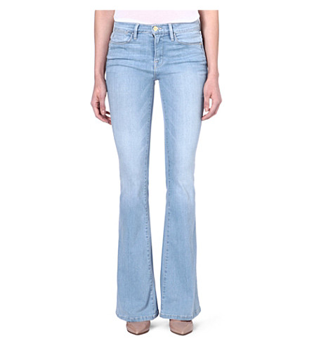FRAME Le High flared high-rise jeans (Surfview
