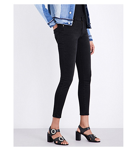 FRAME Le High Skinny high-rise jeans (Pinebrook